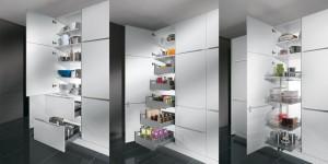 Unitate depozitare cu sertare interioare culisante
